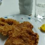 辰巳軒 - イカフライ、鶏の唐揚げ