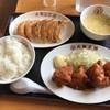 大阪王将 - 料理写真:チキンカツ餃子付き定食