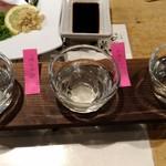 味楽 - 福岡の日本酒飲み比べ