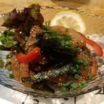 味楽 - 色々刺身の胡麻醤油和え
