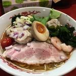 はまんど横須賀 - 【限定メニュー】煮干しと鶏と海老ダシの冷やしラーメン