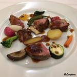 ポミエ - 料理写真:ロゼール産の仔羊のモモ肉のロースト