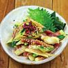 蛸と胡瓜とミョウガの辛子酢味噌