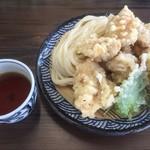 本格手打 麺の蔵 - とり天ザル(小)