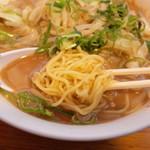大阪王将 - 北の味噌ラーメンの麺