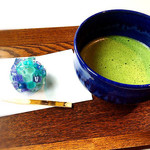 Cafe 椿 - 朝つゆ と 抹茶