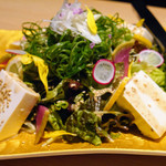 68813851 - 九条ネギと有機豆腐の金胡麻サラダ