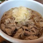 Soba & BAR An - 沖縄県豚葱たっぷり蕎麦900円