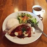 トーチ カフェ - ポークソテー、マッシュポテトとBBQソース800円