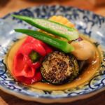 味のなかむら - 初夏野菜のお浸し