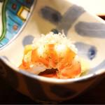 祇園 又吉 - 賀茂茄子の揚げ煮と車海老