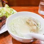 牛たん料理 閣 - テールスープ