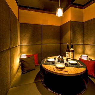 夜景個室◆2名様~団体様で利用可能な完全個室!