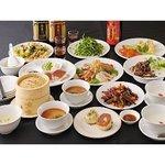 姜太公 - 鮑(あわび)・鱶鰭(ふかひれ)姿煮・北京ダックの豪華中華食材を使用した豪華高級コースです