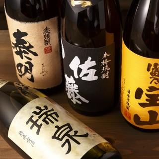 定番酒から珍しいお酒まで幅広くリーズナブルにご提供致します。