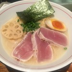 麺と心 7 - 料理写真:濃厚魚介そば・新味(926円)+大(103円)