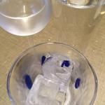 夢かぐら - 「ハナタレ」。さすが45°。グラス3つでサーブ。