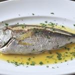 白身魚の窯蒸し焼き