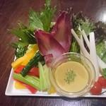 68840307 - 旬野菜のバーニャカウダ