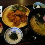 うどん処 あとむ - 復興まんぷく定食(1000円)