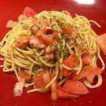 串かつゴエンヤ - しらすとフレッシュトマトのオイルパスタ