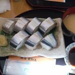 68845981 - さんま寿司です♪かなりあっさりしていて、ご飯は少し柔らかかったみたいです(;´∀`)。