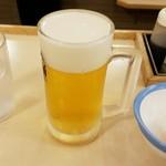 松屋 - ビール(小ジョッキ)
