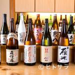 串揚げと和食 323 - 粋な計らいを味わう。うすはりグラスに注ぐ美しいお酒も風情あり