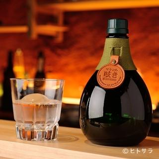めずらしい蕎麦焼酎や焼酎、赤ワイン、日本酒が豊富