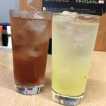 酒蔵ごたん田 - ザクロサワー / 沖縄パイナップルサワー 各¥370