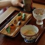 蔵精 - ホタルの時期の酒肴の前菜