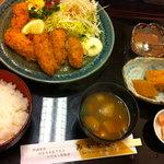 みかどや - カキフライ定食(季節)1000円