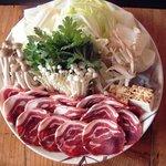 越山 - 料理写真:猪鍋 みそ味のスープで当店一押しメニュー