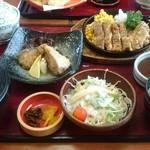 山賊鍋 - チキンステーキ定食+一品(なんちゃら南蛮)