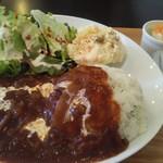 Kuudle cafe - ビーフストロガノフセット1000円
