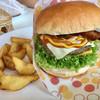 ハンバーガーショップ ビーワン - 料理写真:本日のスペシャル☆スペシャルチーズバーガーセット¥1080