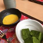 華花 - 華花名物の抹茶わらび餅と季節の冷製フォンデュ