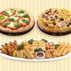 ナポリの窯 - 料理写真:ナポリのおもてなしコース【お好きなピッツァ(5種類)から2品】+【パーティミックス1箱】のセットです。