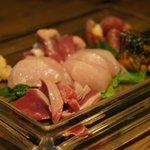 鶏焼肉 Pele - 刺身盛り