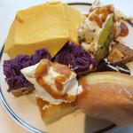 68871415 - マンゴーフリット、紫芋モンブラン、アプリコットタルト、シュガードーナツ、トライフル、アメリカンクッキー