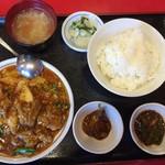 楓林 - 豚四川香り炒め定食