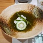 川原崎 - 料理写真:お通し もずく