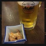 田舎三昧 とんぼ - 生ビール&お通し