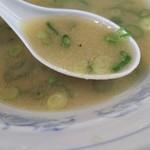 鴨町らーめん - スープは豚骨あっさり系