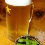 大衆酒場 亀屋 - 生ビールとお通し枝豆