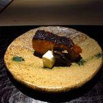 新屋敷 幸福論 - 鰆幽庵焼き・クリームチーズ酒粕漬・蕗の伽羅煮