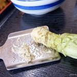 七滝茶屋 - 2017年3月 わさびスリスリ~(´▽`)
