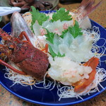あじ浜 - 料理写真:伊勢海老、鰈、鯛