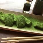 日本茶甘味処あずき - 抹茶わらびもちアップ