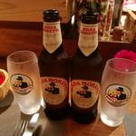カロローゾ - おじさんが4人!イタリアンビールも飲みました。